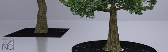 osłony na drzewa